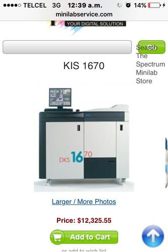 Minilab Kis 1670 Vela Trabajando Esta Instalada