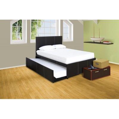 Elegante cama canguro matrimonial tapizada en vinipiel for Dimensiones cama matrimonial