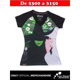 Playera Oficial WICKED EVENT BLACK GIRLY TEE