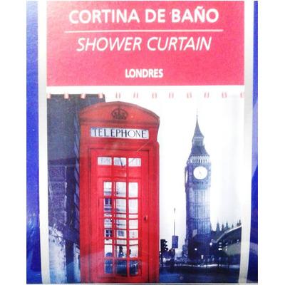 Cortina De Ba O Londres Cabina Telefonica Big Ben 549