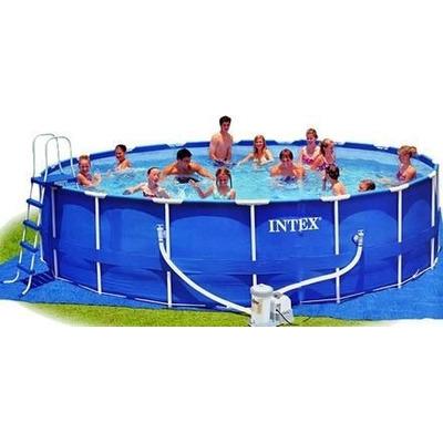 Gigante alberca piscina familiar intex con bomba x 1 for Cuanto sale construir una piscina