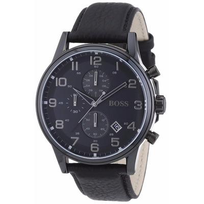 Reloj Hugo Boss Classic Cron 243 Grafo Piel Negra 1512567