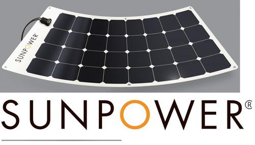 Celda Fotovoltaica Panel Solar Flexible Sunpower 110 12v 25%