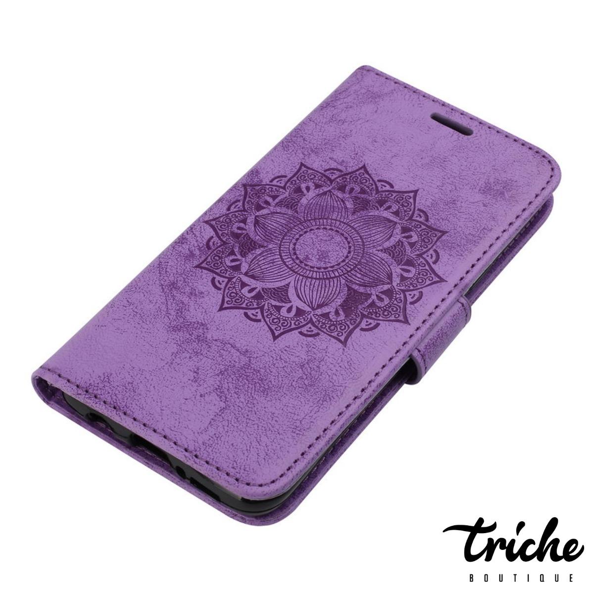 Funda Tipo Cartera Mandala Flor Dama Galaxy S9 Plus S9+