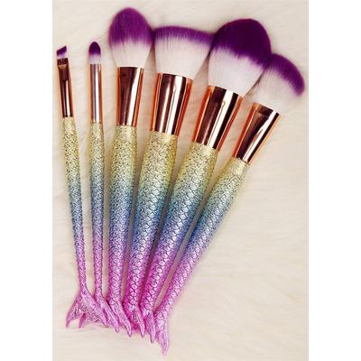 brochas de sirena para maquillaje pelo natural set de 8 250 00 en mercado libre