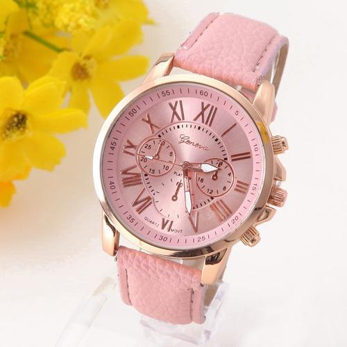 Reloj Geneva Mujer Clasico Romano Moda Vintage Dama A578 en venta en ... 29c2d7239a93