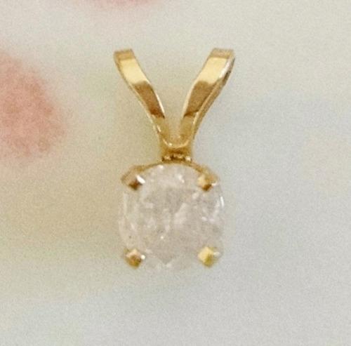 4196f557e463 comprar Dije Solitario Diamante Y Dije Tres Diamantes Oro Sólido 14k ...