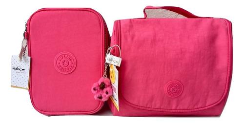d382885b0 ... comprar Set De Mochila Lonchera Y Lapicera Kipling Rosa Original ...