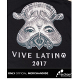 Playera Oficial Vive Latino 2017 Top Dama