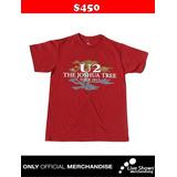 Playera Oficial U2 TOUR RED TEE