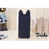 Funda Case Koko Cat Negro iPhone 5 iPhone 5s iPhone SE