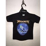 Playera De Megadeth, Para Niño Talla 2 A 4 Años