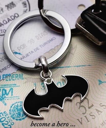 Llavero Batman Logo Dc Comics Baño De Plata