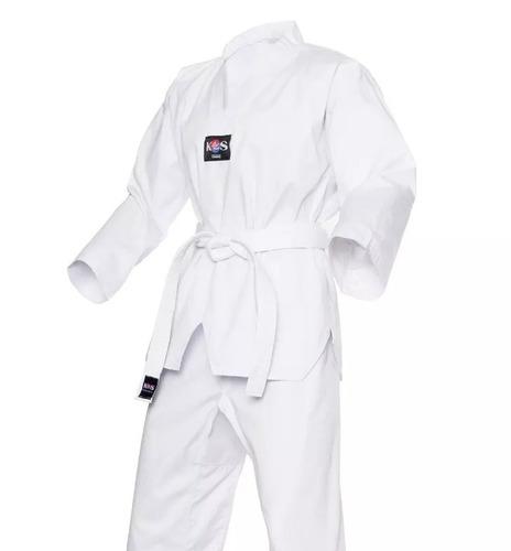 Dobok Cuello Blanco Korea Sport Taekwondo Envio Gratis