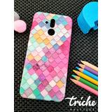 Funda Case Mosaico Colores Sirena Dama Huawei Mate 20 Lite