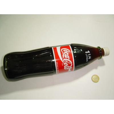 Botella coca cola 1 1 4 litro vidrio transparente taparosca 1 en mercado libre - Vidrio plastico transparente precio ...