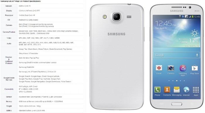 NUEVO SAMSUNG GALAXY MEGA 5.8 I9150 (8GB+1.5RAM) DEBLOQUEADO