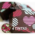 Transfer para Chocolate San valentín - 4 y 5 tinta...