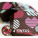 Transfer para Chocolate San valentín - 4 y 5 tintas - Ma Baker and Chef