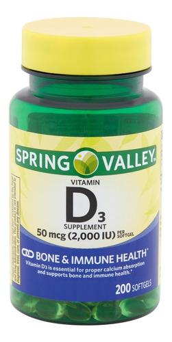 Vitamina D3 Softgels Natural 2,000iu 200 Tabletas Eg D45