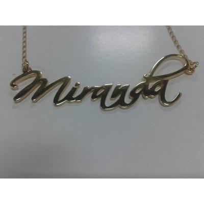 Nombres personalizados con cadena y ba o de oro 290 bcpaj - Bano de oro precio ...