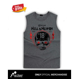 Playera Oficial HELL AND HEAVEN 2018 CALAVERA 18 CABALLERO