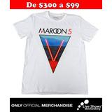 Playera Oficial MAROON 5 White TEE