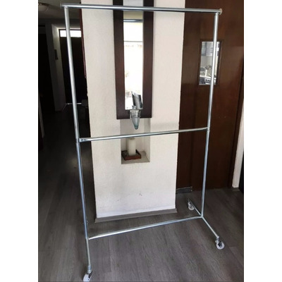 Rack colgar ropa tipo closet largo economico 579 for Como hacer un perchero de pared