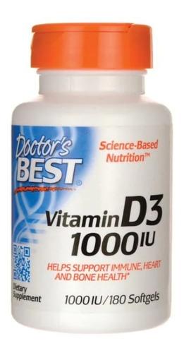 Vitamina D3 Ayuda Corazon Huesos 1,000iu 180 Tabletas Eg D53
