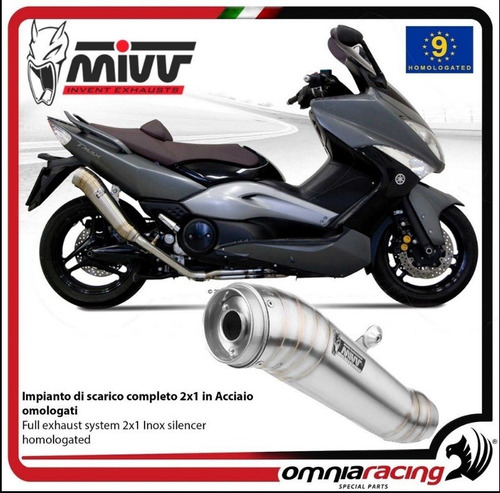 Escape Completo Mivv Gp Carbono Yamaha T-max 500 2008-2011