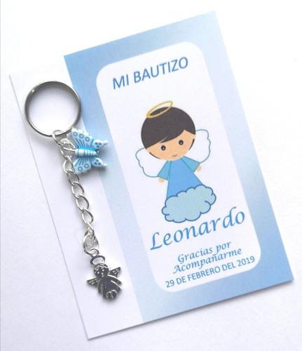 Recuerdos Personalizados Bautizo.30 Llaveros Recuerdos Personalizados Bautizo Boda Comunion