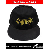 Gorra Oficial ANTHRAX Visera Plana