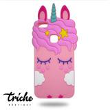 Funda Botarga Unicornio Pestañas Colores Huawei P10 Lite