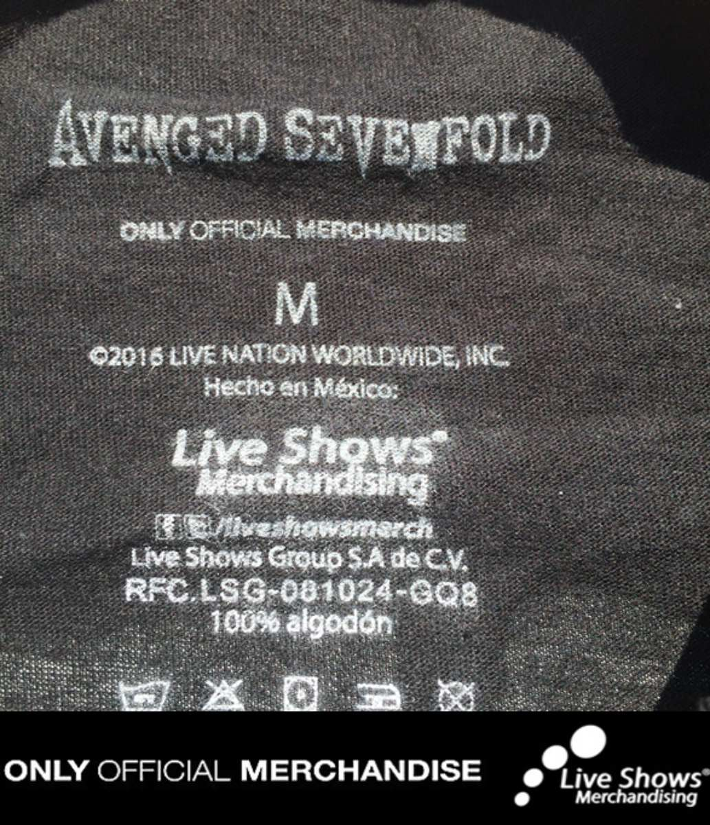 Playera Oficial AVENGED SEVENFOLD Muerte