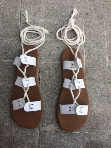 Sandalias Tipo Gladiador De Cuero 2