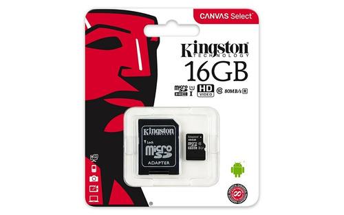 Memoria Micro Sd 16gb C 10 80mb/s Barata Mayoreo Kingston +