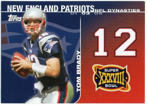 2008 Topps Dynasties Sb X X X V I I I Tom Brady Patriots