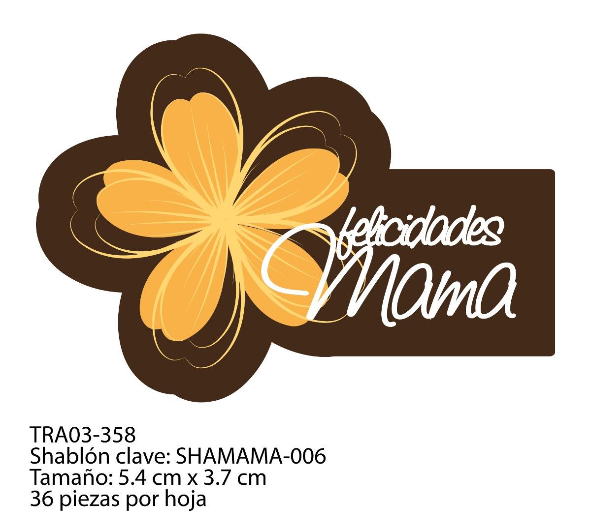 Transfer para Chocolate - Día de las Madres- 3 tintas
