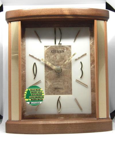 Reloj De Cornisa Citizen De Madera Genuina Oferta Hermoso!!