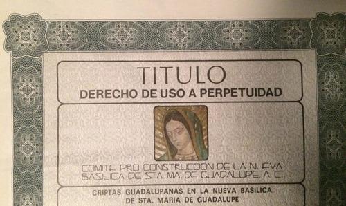 Cripta En Basílica De Guadalupe