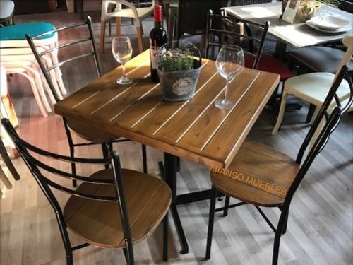 Mesa tomasina con 4 sillas restaurantes cafeter as compra for Sillas para bares y confiterias