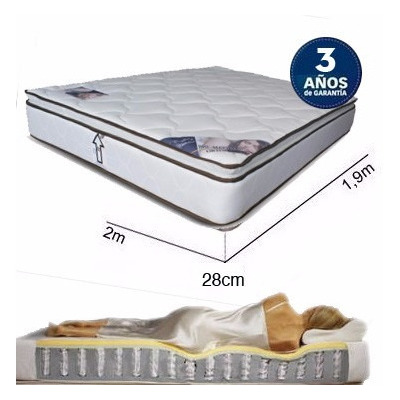 Colch n king size anti estr ss strech resortes bio matress for Colchon mas grande que king size
