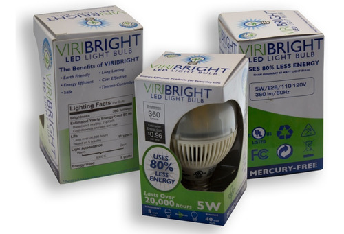 Viribright 3-Pack Led Spotlights 5w / e26 / 110-120v - Ecart
