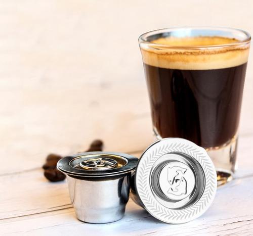 Capsula Recargable Rellenable Acero Inoxidable Cafetera Nesp