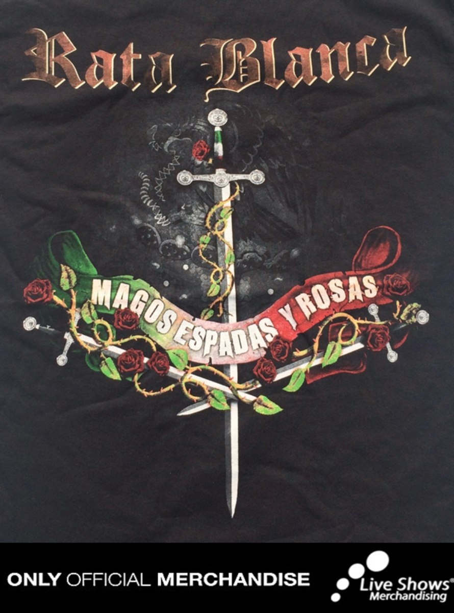 Playera Oficial RATA BLANCA TOUR + GORRA OFICIAL