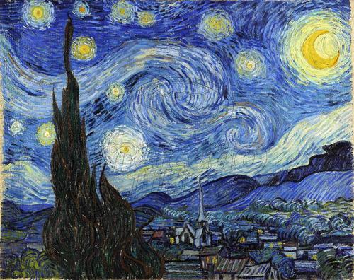 Lienzo Tela La Noche Estrellada Vincent Van Gogh 126 X 100