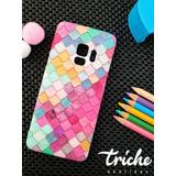 Funda Case Mosaico Colores Sirena Dama Galaxy S9 normal