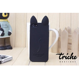 Funda Botarga Koko Cat Negro iPhone 7 Triche