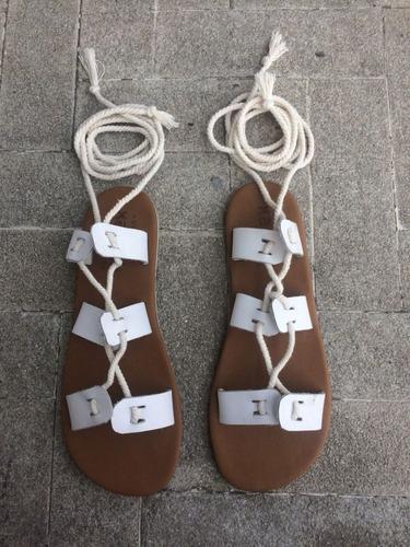 Sandalias Tipo Gladiador De Cuero 4