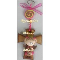 Recuerdos De Bautizo Cruz De Madera.Busca Recuerdos Bautizo Llavero Angelita Angelito Pasta